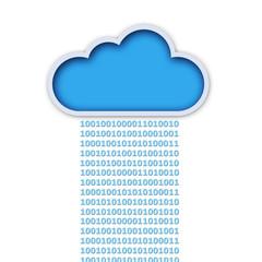 Digital rain cloud