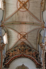 Baroque church wooden ceiling