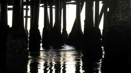 Under the Pier - Time Lapse - Clip 1