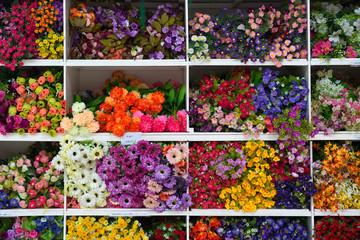 Pattern of beautiful flowers background