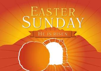 easter sunday holy week tomb card