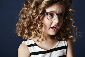 Fashionable girl in spectacles