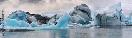 Iceberg in the glacier lagoon. Iceland. - 78899768