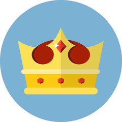 Vector Crown Flat Icon