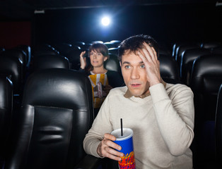 Terrified People Watching Film