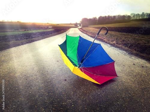 canvas print picture Happy rainy day