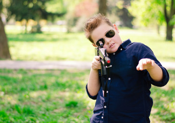 boy with a gun