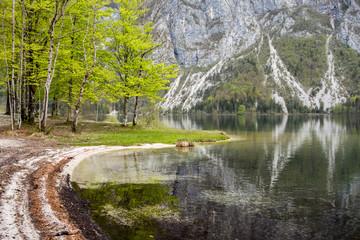 Romantic view of Bohinj lake