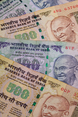 Different banknotes from India
