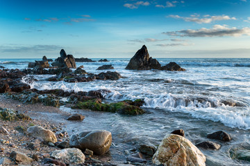 Portwrinkle in Whitsand Bay on the south east coast of Cornwall