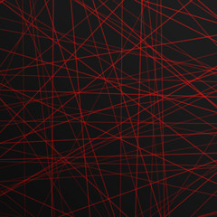 abstract red lines laser