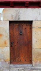 Antique wooden door-Sare-France
