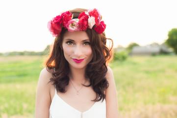 Woman in wreath