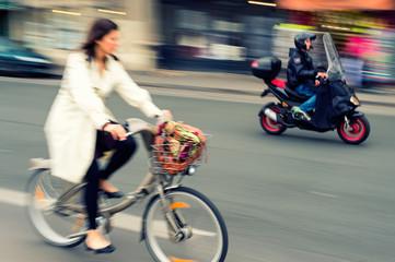 City cycle traffic
