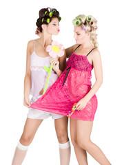 Girl's pyjamas party