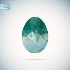 Vector polygon  easter egg