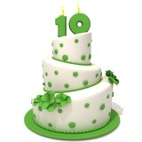 Fototapety Birthday cake with number ten