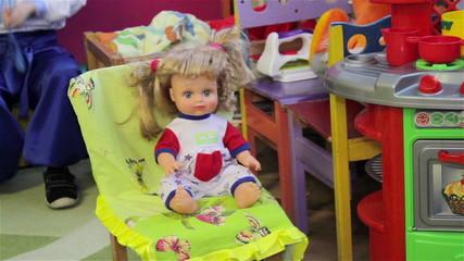 toy doll in the kindergarten