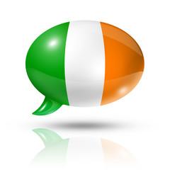 Irish flag speech bubble