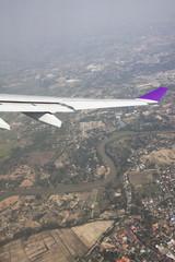 window of an aircraft.