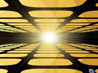 Horizon lights abstract vector background