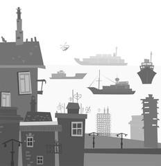 City port illustration
