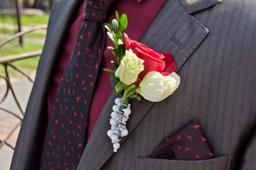 Wedding decoration on jacket