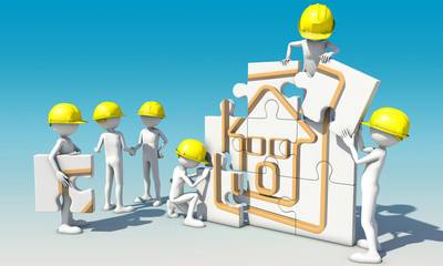 travail d'équipe bâtiment