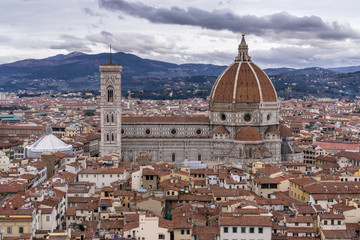 View of Duomo and Florence