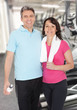 Happy Mature Couple At Gym