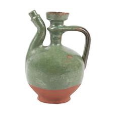 Old green jug