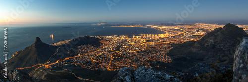 South Africa Kapstadt bei Nacht