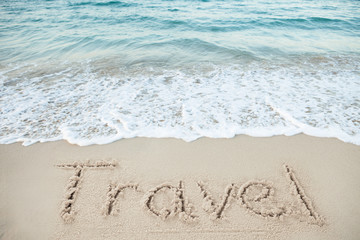 Travel Written On Sand By Sea