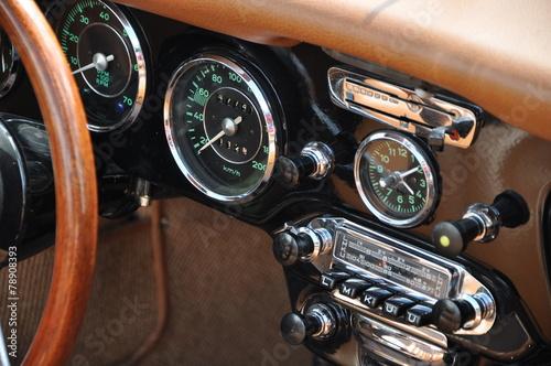 Keuken foto achterwand Vintage cars Cockpit Oldtimer 2