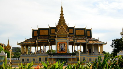 Tourists Visiting the Kings Palace  - Phnom Penh Cambodia