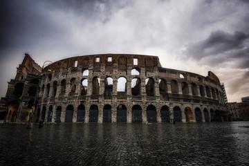 Stormy sky over Colosseum