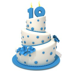 Birthday cake with number ten