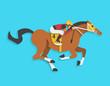 jockey riding race horse number 4, Vector illustration - 78909938