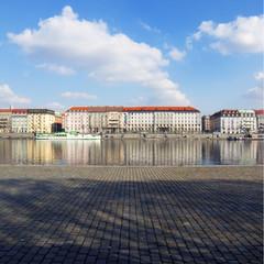 Prague riverbank