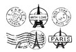 Eiffel Tower stamp - 78910515