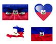 Set of various Haiti flags