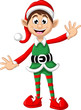 Christmas elf posing for you design - 78910599