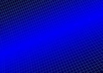 Blue background, grid curved