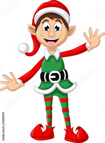 Christmas elf posing for you design - 78910599
