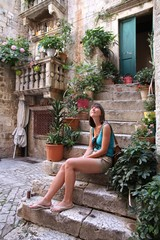 Tourist in Croatia - female traveler