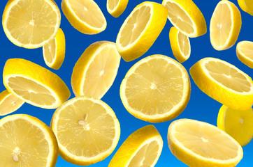 falling lemon segments