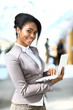 beautiful young african american businesswoman