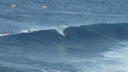 Big Wave Surfers at Jaws, Maui Hawaii - Clip 6