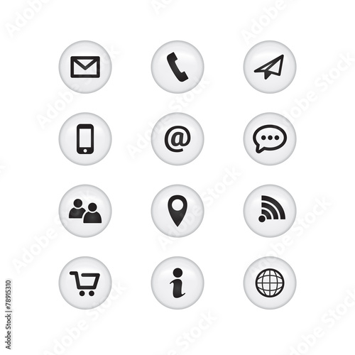 Zdjęcia na płótnie, fototapety, obrazy : Contact Glass Icons