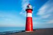 Leinwanddruck Bild - Leuchtturm Westkapelle Holland